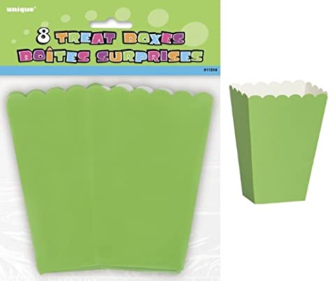 Pack of 8 LIGHT GREEN Party Treat Boxes