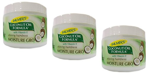 3x Palmers Palmer's Coconut Oil Formula Moisture Gro Shining Hairdress 250g (insgesamt - 750g)