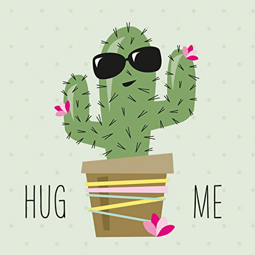 Servietten (2er Set / 40Stück) 3-lagig 33x33cm Hug Me Cactus Lustiger Kaktus mit Sonnenbrille