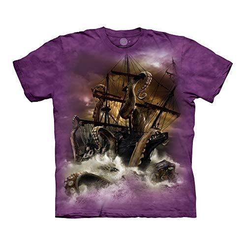 The Mountain Unisex-Erwachsene Kraken T-Shirt, violett, 4X-Groß