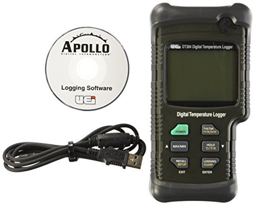 UEi Test Instruments DT304 Quad Input IP67 Digital Logging Thermometer by UEi Test Instruments