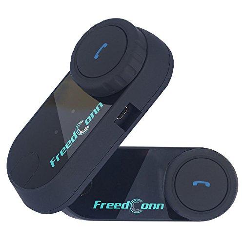 Motorrad Helm Bluetooth Headset Wireless Intercom Kopfhörer mit Mikrofon für Motorrad Roller Ski Kommunikation, Range-800M T-COM VB, Single (2 Einheiten mit Soft-Kabel) (Mikrofon Einheit)