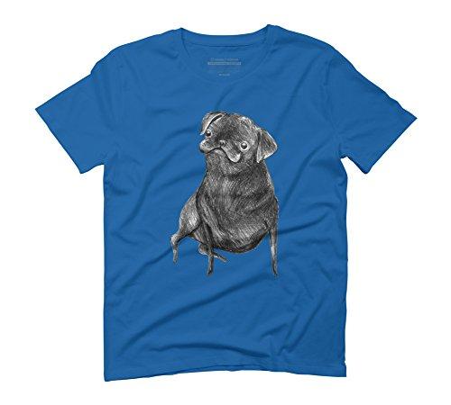 Le Carlin Noir Men's 3X-Large Royal Blue Graphic T-Shirt - Design By...