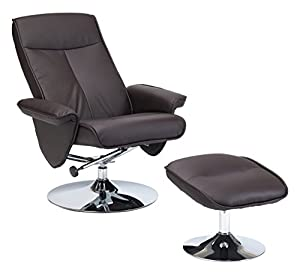 Restwell Brown Drive Medical Swivel Recliner Chair
