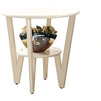 Comparador de precios CB Sala de estar pequeña mesa de centro, mesa de sofá de madera maciza creativa mesa lateral varios lados mesa de noche decoración de la sala pequeña mesa redonda -Dale más consuelo a la vida - precios baratos