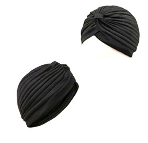 Top Brand - Mode Génial Turban Headwrap Style, Bandana Également Idéal Pour La Perte De Cheveux Et La Chimio - Noir