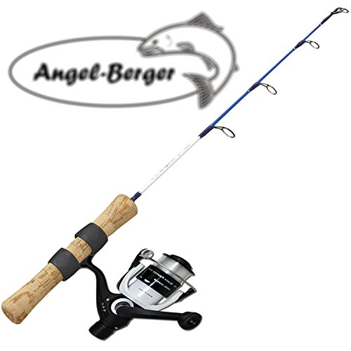 Angel-Berger-Eis-und-Bootsangelset-mit-Rolle
