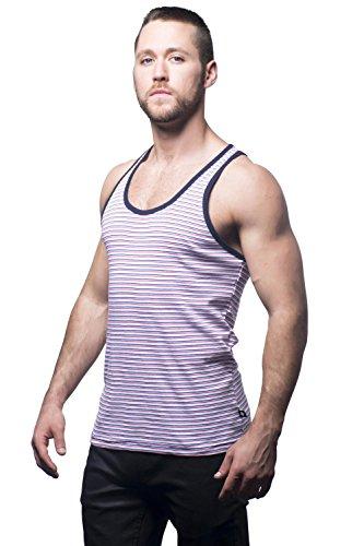 Andrew Christian 2581 Summer Tank Stripes Rot / Weiß / Blau