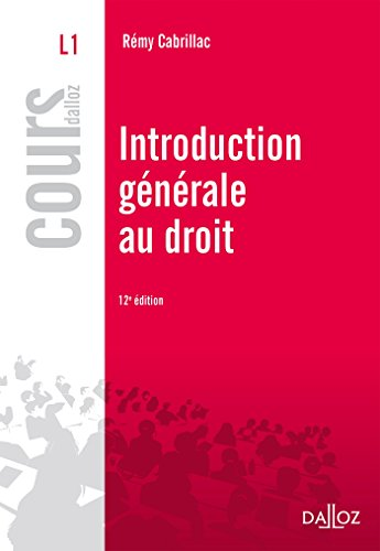 Introduction générale au droit - 12e éd.