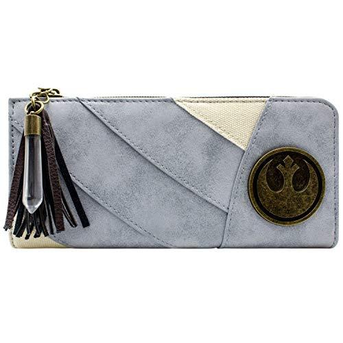 Cartera Star Wars Rey's Traje amuletos Azul
