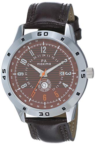 MAXIMA Analog Brown Dial Men's Watch - O-52022LMGI