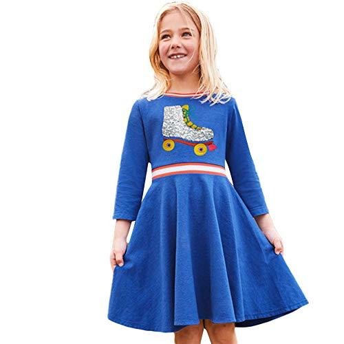 JERFER Baumwolle Langärmelig Kinder Kinder Mädchen Frühling Bling Freizeit kleidung