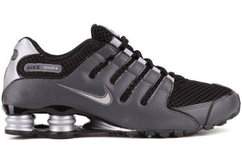 Nike Men's Shox NZ Black/Black/Mtllc Slvr/Drk Gry Running Shoe 8 Men US
