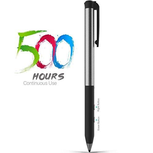 Microsoft-zertifizierte Spirit Surface Stifte, 500 Stunden Arbeit 180 Tage Standby-Betrieb, eingebauter Akku-Aktivstift 4096 Druckempfindliche für Surface Go/Pro 3/Pro 4/Pro 2017/Laptop/Book/Studio
