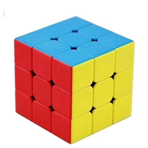 ZAOZINIU- Der Rubiks Würfel der dritten Ordnung glattes Anfängerwürfelspiel spezielles pädagogisches Energiespielzeuggeschenk der Kinder 5.7 * 5.7 * 5.7cm (Farbe : C) (Zentrale A/c Abdeckung)