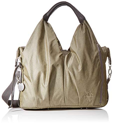 LÄSSIG Baby Wickeltasche nachhaltig inkl. Wickelzubehör/Green Label Neckline Bag Spin Dye, Gold mélange