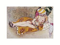 Leon Bakst - Die gelbe Sultanin Print 60x80cm