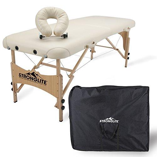 STRONGLITE Massageliege Shasta - Mobiler, Tragbarer Massagetisch inkl. Tasche, Verstellbarer Kopfstütze, Gesichtskissen (70x185cm) (Massagetische Earthlite)