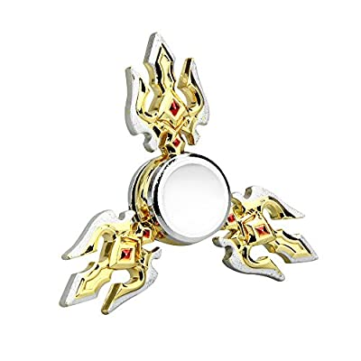 Fidget Spinner,Omiky® EDC Tri Metal Shuriken Hand Spinner Finger Groy Toy for SBDX ADD ADHD Anxiety Autism Suffers