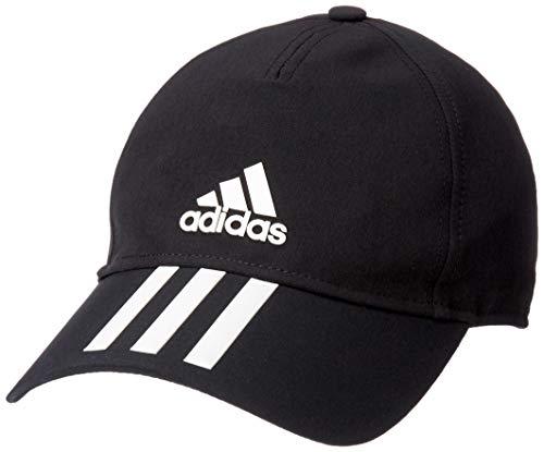 adidas Erwachsene C40 6P 3-Streifen Climalite Schirmmütze, Black/White, OSFM -