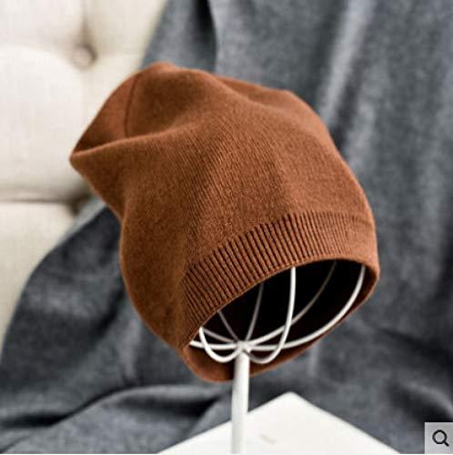 NIGHT WALL Winter Pelz Strickmütze,Damenmütze,Winter Wolle Wollmütze,weiche und zarte elastische warme Strickmütze @ Karamell,für Outdoor Camping Skimützen -