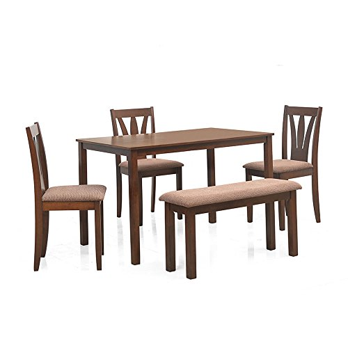 @home by Nilkamal Bony Five Seater Dining Table Set (Brown)  available at amazon for Rs.16695