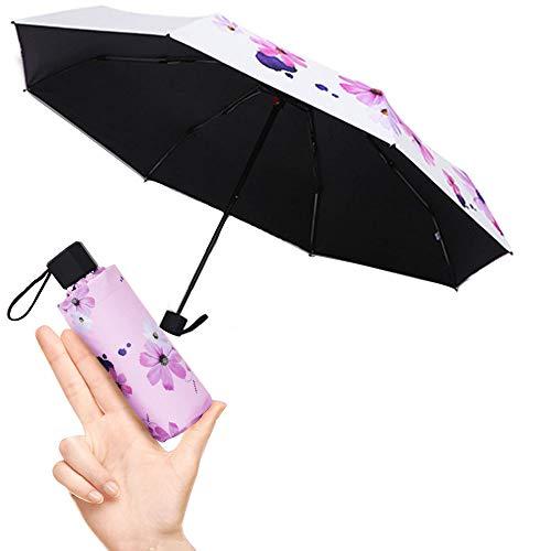 Taschenschirm faltender Visier-Sonnenschutz-Regenschirm Im Freien UV-faltender Regenschirm, klein, kompakt, leicht, klein, stabil u. windsicher