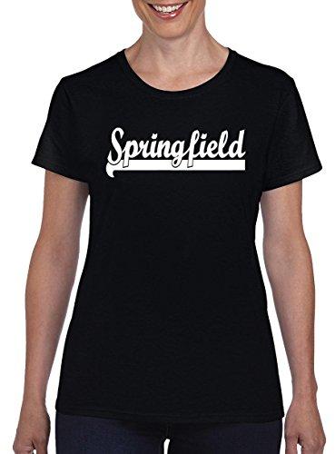 TSP Springfield Damen T-Shirt M Schwarz