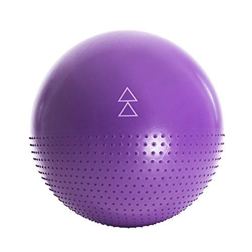 La balle d'exercice de Yoga Design Lab. Studio qualité, double face, formule non glissante avec une technologie anti-éclatement. Conçu pour vous faire aimer les exercices de barres, les pilâtes, le yoga et autre exercices fitness de ballon. 65 cm