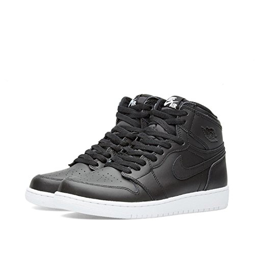 Nike Jungen Air Jordan 1 Retro High OG BG Basketballschuhe, Schwarz/Weiß (Schwarz/Schwarz-Weiß), 40 EU (Jordan Retro 4 Schwarz Und Weiß)