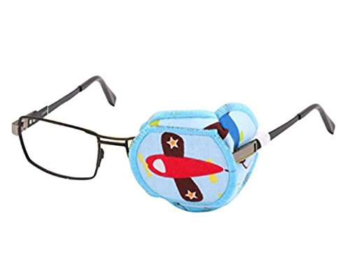 Augenklappe aus reiner Baumwolle, wiederverwendbar, mit Cartoon-Motiv, Amblyopie-Augenklappe für Brillen, zur Behandlung von