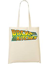 Back To The Kitchen Movie Fashioned Slogan Bolso De Mano Bolsa De La Compra