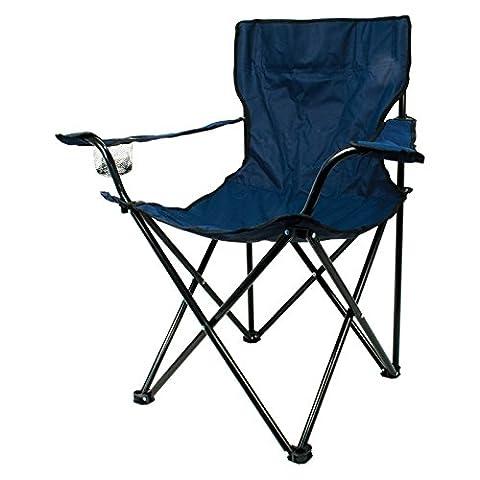 Adulte Chaise de camping pliante, bleu