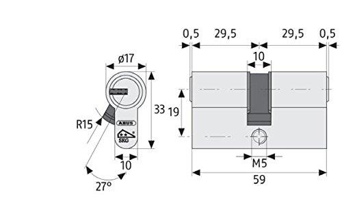 ABUS Profilzylinder XP20SN mit Sicherungskarte und 3 Schlüssel - 5