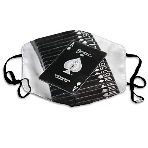 Vbnbvn Unisex Mundmaske,Wiederverwendbar Anti Staub Schutzhülle,White Ace Black Card Unisex Fashion Mouth-Masks Washable Safety 100% Polyester Comfortable Breathable Health Anti-Dust Half Face Masks