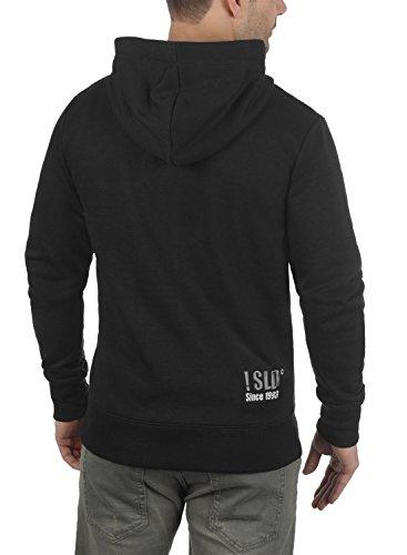 !Solid Benn High-Neck Herren Sweatjacke Kapuzenjacke Hoodie mit Kapuze Reißverschluss und Fleece-Innenseite, Größe:S, Farbe:Black (9000) - 4