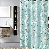 240cm wide200cm high : [200cm ] Modern PEVA Shower Curtain Europe Cute Bath Curtain Bathroom Products Waterproof Blueee Bathroom Shower Curtain Vintage