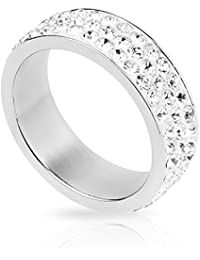Taffstyle® Damen Multi Kristal Verlobungsring Schmuck Ring Trauring