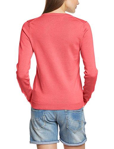 GANT Damen Pullover LT WT COTTON V-NECK 483022 Rot (RICH CORAL 644)