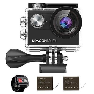 Dragon Touch Action Kamera Vision Serien 4K Sportkamera Unterwasserkamera mit Zubehöre