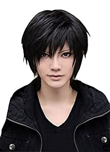 Super Wigy Wigs For Mens Cool Male Black Short Straight Hair Wig/Wigs Cosplay Party Cheaper