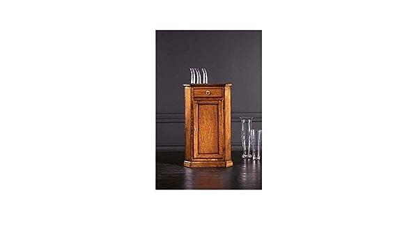 Credenza Angolare Arte Povera : Estea mobili credenza ad angolo in legno angoliera arte povera