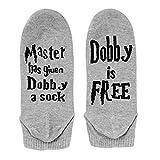 NO&DISTURB Master Has Given Dobby a Sock Dobby is Free Harry Potter Socken, Grey-Short, Einheitsgröße