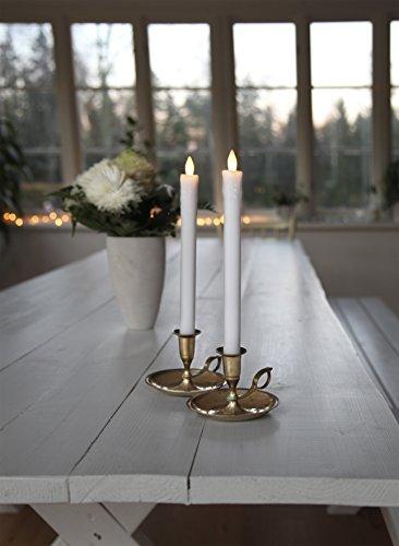 ¿LED-cera real-varilla de vela - clic Line para interiores - batería - natural - ->2,5 x? 24 cm - blanco - 2 pcs
