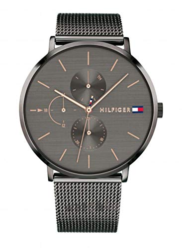 Tommy Hilfiger Damen Multi Zifferblatt Quarz Uhr mit Edelstahl Armband 1781945