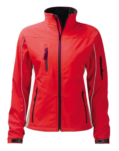 Panacea SS3L3 Damen Soft Shell 2XL Amethyst 3 Layer Jacket, Rot/Grau 3 Layer Soft Shell