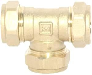 Plumb-Pak Lot de 3 raccords à compression en T 22 mm