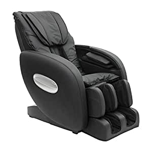 Fauteuil massant shiatsu Asana avec système professionnel, 7 programmes de massage dossiers, presso-thérapie sur bras, mains, molletset et pieds, massage L-shape, massage superlong, position Zero-Gravity, bodydetecting. En cuir artificiel gris tourterelle