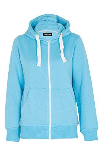 Noroze Femmes Plaine Fleece Sweat à Capuche Manche Longue Sweat-Shirt pull-over Turquoise