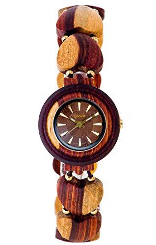 TENSE // Die Holzuhr - Maria Sandelholz - multicolor - Damen-Uhr - Holz-Uhr L7007I-BR